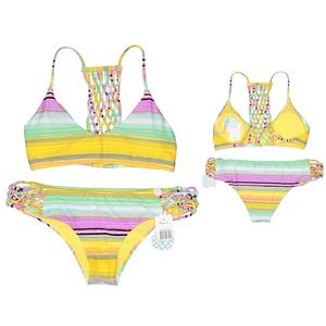 Raisins Newport Macrame Stripe Bikini